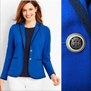 NWT Talbots Aberdeen cotton nautical blazer